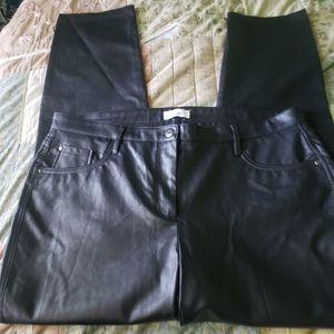 Reitman's Faux Leather Ladies Pants Size 17